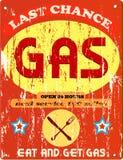 sinal do posto de gasolina e do comensal, Imagem de Stock