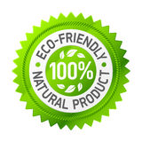 Sinal do produto eco-friendly. Vetor. Imagens de Stock