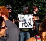 Sinal do protesto dos media Fotos de Stock Royalty Free