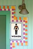 Sinal do quarto das mulheres tropicais Fotografia de Stock