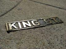 Sinal do rei histórico Street em Charleston, 2008 imagens de stock