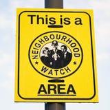 Sinal do relógio de vizinhança Imagem de Stock Royalty Free