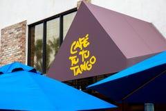 Sinal do restaurante do tango da Turquia a Turquia do café foto de stock