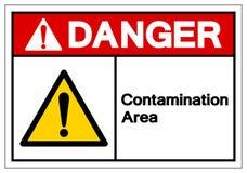 Sinal do símbolo da área da contaminação do perigo, ilustração do vetor, isolado na etiqueta branca do fundo EPS10 ilustração do vetor