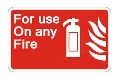sinal do símbolo da proteção contra incêndios do símbolo no fundo branco, ilustração do vetor ilustração stock