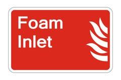 sinal do símbolo da segurança da entrada da espuma do fogo do símbolo no fundo branco, ilustração do vetor ilustração royalty free