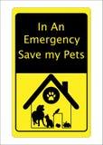 Sinal do salvamento do cão do gato dos animais de estimação Fotos de Stock Royalty Free
