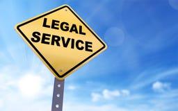 Sinal do serviço jurídico ilustração stock
