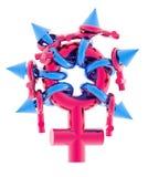 sinal do sexo de grupo 3D ilustração royalty free