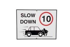 Sinal do Slow Down Fotos de Stock Royalty Free
