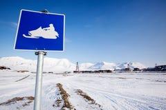 Sinal do Snowmobile Imagens de Stock Royalty Free