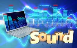 sinal 'do som' do espectro 3d Fotos de Stock