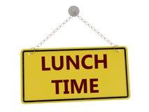 Sinal do tempo do almoço Fotografia de Stock