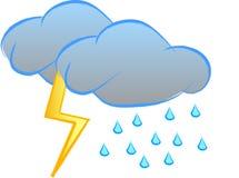 Sinal do temporal Fotos de Stock Royalty Free