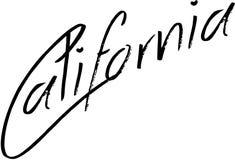 Sinal do texto de Califórnia Fotografia de Stock Royalty Free