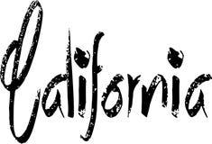 Sinal do texto de Califórnia Imagens de Stock