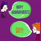 Sinal do texto que mostra a avós felizes o dia O feriado nacional da foto conceptual para comemorar e honrar avós entrega ilustração stock