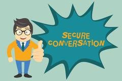 Sinal do texto que mostra a conversação segura A foto conceptual fixada cifrou uma comunicação entre serviços de Web ilustração do vetor