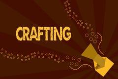 Sinal do texto que mostra Crafting Atividade da foto ou passatempo conceptual de fazer os artigos decorativos que usam à mão ferr ilustração stock