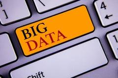 Sinal do texto que mostra dados grandes Grande quantidade conceptual da foto de informação que precisa de ser analisada por compu Fotografia de Stock Royalty Free