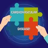 Sinal do texto que mostra a doença cardiovascular As condições conceptuais da foto envolvem os vasos sanguíneos reduzidos ou obst ilustração do vetor