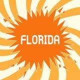 Sinal do texto que mostra Florida Estado conceptual da foto na região do sudeste de praias ensolaradas do lugar do Estados Unidos ilustração royalty free