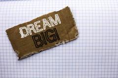 Sinal do texto que mostra grande ideal Ideia conceptual do desafio da estratégia da visão do sonho do alvo do plano da motivação  Imagem de Stock Royalty Free
