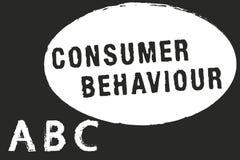 Sinal do texto que mostra o comportamento de consumidor Decisões conceptuais da foto que os povos fazem para comprar ou para não  ilustração do vetor