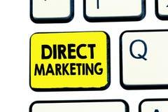 Sinal do texto que mostra o marketing direto Negócio conceptual da foto de vender produtos ou serviços ao público imagens de stock