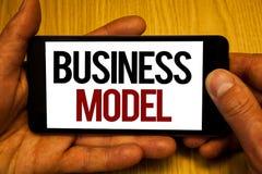 Sinal do texto que mostra o modelo comercial Ideias bem sucedidas da visão estratégica inovativa conceptual do mercado do plano d Fotografia de Stock