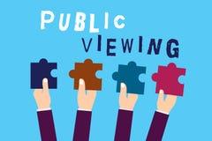 Sinal do texto que mostra a visão pública Foto conceptual capaz de ser visto ou sabido por todos aberto à vista geral ilustração royalty free
