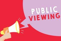 Sinal do texto que mostra a visão pública Foto conceptual capaz de ser visto ou sabido por todos aberto à vista geral ilustração do vetor