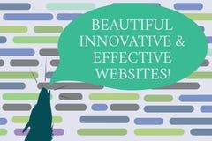 Sinal do texto que mostra Web site inovativos e eficazes bonitos Contorno atrativo bem cozido dos Web pages da foto conceptual ilustração royalty free