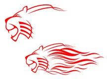 Sinal do tigre Imagens de Stock
