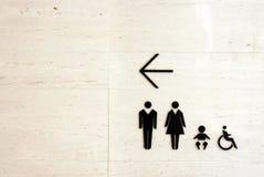 Sinal do toalete Imagens de Stock