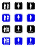 Sinal do toalete ilustração royalty free