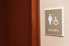 Sinal do toalete das mulheres Imagens de Stock