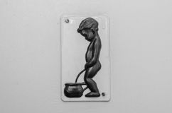 Sinal do toalete de Little Boy Imagem de Stock