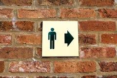 Sinal do toalete dos senhores Fotografia de Stock