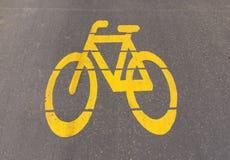 Sinal do trajeto da bicicleta Imagens de Stock Royalty Free