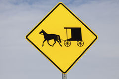 Sinal do transporte de Amish foto de stock royalty free