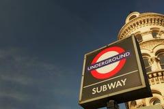 Sinal do tubo de Londres Fotografia de Stock Royalty Free