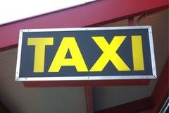 Sinal do táxi Imagem de Stock Royalty Free