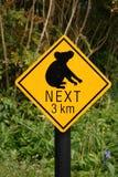 Sinal do urso de Koala foto de stock royalty free