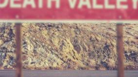 Sinal do Vale da Morte video estoque