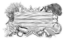 Sinal do vegetal e do produto dos frutos ilustração royalty free