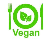 Sinal do vegetariano ilustração do vetor