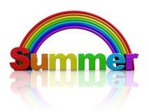 Sinal do verão ilustração do vetor