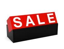 Sinal do vermelho da venda Fotos de Stock Royalty Free