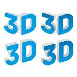 sinal do vetor 3d Imagem de Stock
